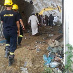 """بالصور.. """"مدني جازن"""" يكشف تفاصيل وحصيلة انهيار الداير الصخري"""
