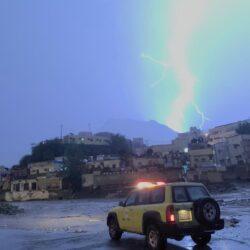 """""""الأرصاد"""": أمطار غزيرة على جازان تستمر حتى 9 مساءً"""