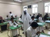 رئيس قسم الشؤون التعليمية بمكتب تعليم المسارحة والحرث يتفقد سير الاختبارات بمتوسطة وثانوية المرابي