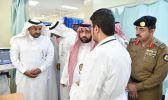 أمير جازان بالنيابة يزور المصابين بمستشفى الدائر بني مالك ومستشفى الملك فهد بجازان